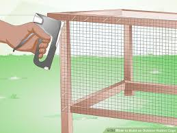 How To Build A Rabbit Hutch Out Of Pallets How To Build An Outdoor Rabbit Cage 10 Steps With Pictures