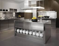 metal island kitchen stainless countertops kitchen with steel and a black grid