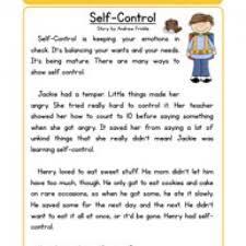 stories for comprehension self character reading comprehension worksheet
