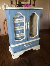 Jewelry Armoire Vintage Shabby Chic Upcycled Distressed Jewelry Armoire 40 Organizing
