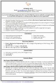 curriculum vitae format for freshers pdf 55 lovely stock of resume format for freshers mechanical engineers