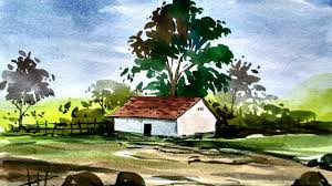 easy landscape paintings for beginners simple watercolor landscape