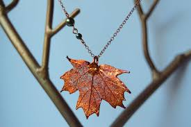 real leaf necklace images Medium fallen copper maple leaf necklace real maple leaf pendant jpg