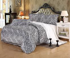 Silk Duvet Cover Queen Zebra Print Silk Bedding Set Black And White Luxury Bedding Zebra
