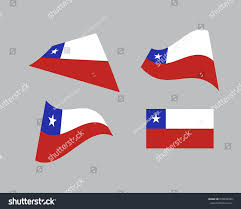 Chile Santiago Flag Flag Chile National Country Symbol Illustration Stock Vector