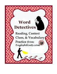 word detective unit reading context clue and vocabulary