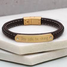 bracelet gold leather man images Mens leather and gold bracelet best bracelets jpg