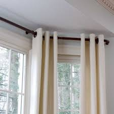 Curtain For Window Ideas Charming Curved Curtain Rod For Bow Window 98 In Room Decorating