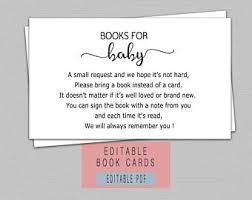 book instead of card baby shower poem book instead of card etsy