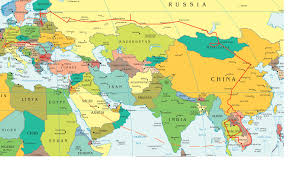 India On A World Map by Europe And Asia Map Roundtripticket Me