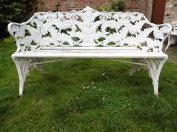 coalbrookdale fern and blackberry cast iron bench romantic cast