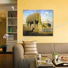 hand painted modern abstract oil painting on canvas african