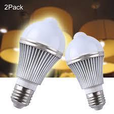 pir led light bulb 2pcs 5w pir infrared motion sensor led light bulbs light control led