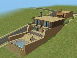 level house sims simple modern multi level house style house