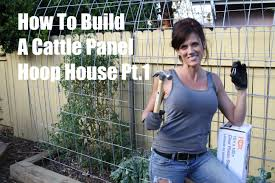 how i built a diy cattle panel hoop house part 1 youtube