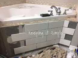 Tile On Bathtub How To Tile A Bathtub To Make It Look Like A Spa Hometalk