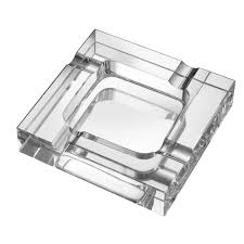 visol callisto square crystal cigar ashtray vash307 the home depot
