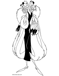 cruella deville coloring pages 101 dalmatians coloring pages