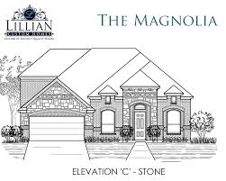 the magnolia lawson farms new home floor plan midlothian texas