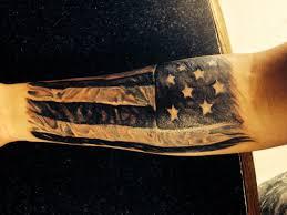 black and grey american flag tattoo black and grey american flag