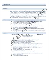 Resume Sample For Administrative Assistant Position by 10 Entry Level Administrative Assistant Resume Templates U2013 Free