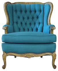 chair design ideas awesome blue wingback chair furniture blue