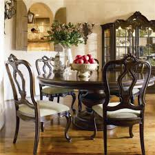 Pad For Dining Room Table by Decoration Ideas Enchanting Round Dark Brown Cherry Wood Dining