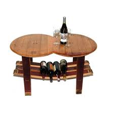 Wine Coffee Table Reclaimed Wine Barrel Coffee Table With Stave Base
