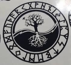 viking rune tree of amulet die cut vinyl sticker decal