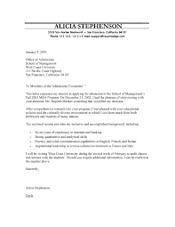 Examples Of Resumes For College Applications by Program Cover Letter