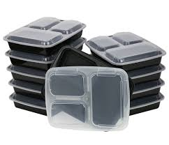tray plates chefland 3 compartment microwave safe food container