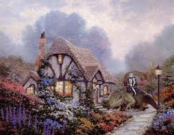 285 best kinkade cottages images on drawing