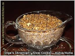 ukrainian cooker kutya or kutia porridge