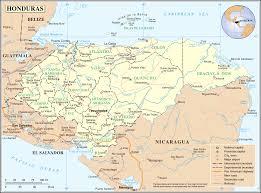 Un Map Un Honduras U2022 Mapsof Net