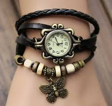 ladies watches bracelet style images Lady watch vintage style wrist watch real leather bracelet jpg