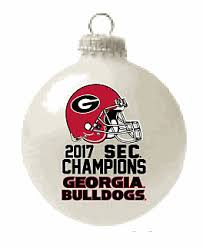 uga football 2017 sec chions glass ornament
