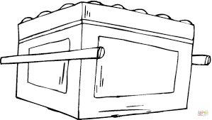 ark of the covenant coloring page free printable coloring pages