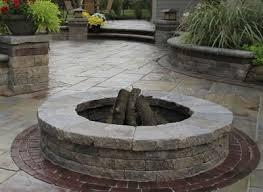 Firepit Pavers Brick Paver Pit Design And Installation Brick Paving