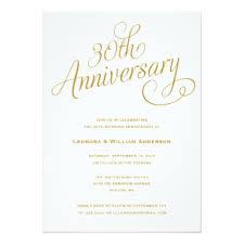 30 wedding anniversary 30th wedding anniversary invitations announcements zazzle