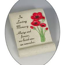 poppy scroll memorial ornament nan grandad in loving