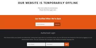 Site Unavailable - offline page