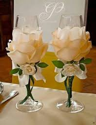 best 25 decorated wine glasses ideas on