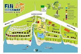 fiji resort map fiji hideaway resort spa fiji south pacific