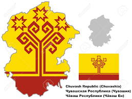 Blank Map Of Russia by Outline Map Of Chuvashia With Flag Regions Of Russia Vector