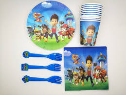 paw patrol tableware 10 guest pack party malaysia