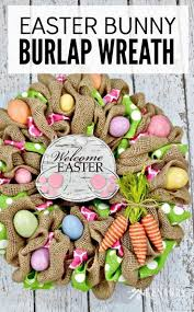easter bunny burlap wreath an easy craft idea and tutorial