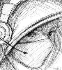 semi realistic sketch by nadiaamyrose on deviantart