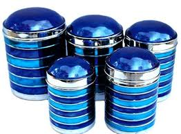blue kitchen canisters kitchen canisters blue amazon com