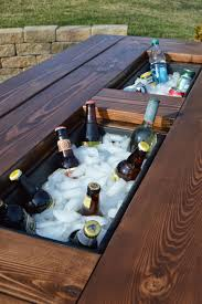 patio table grommet make your own patio table with built in ice boxes outdoor