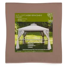 Replacement Canopy For 10x12 Gazebo by 10 U0027x10 U0027 Gazebo Vented Canopy Replacement Christmas Tree Shops
